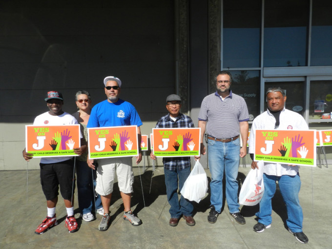 Building Trades union members worked to get out the vote for the November 2012 election.