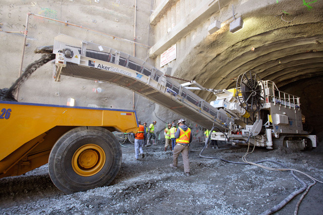 Caldecott Tunnel Excavation. Photo courtesy of Caltrans