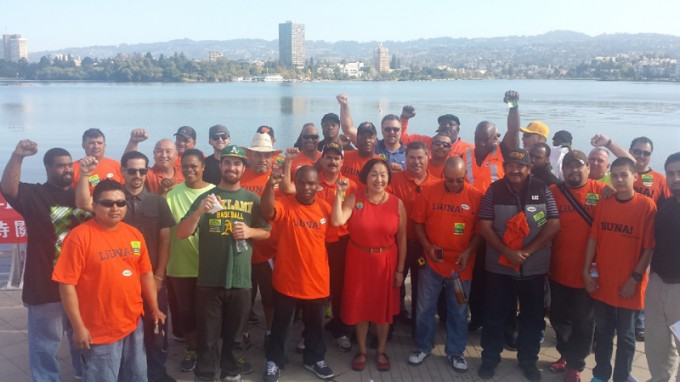 Building Trades Precinct Walk for Oakland Mayor Jean Quan.