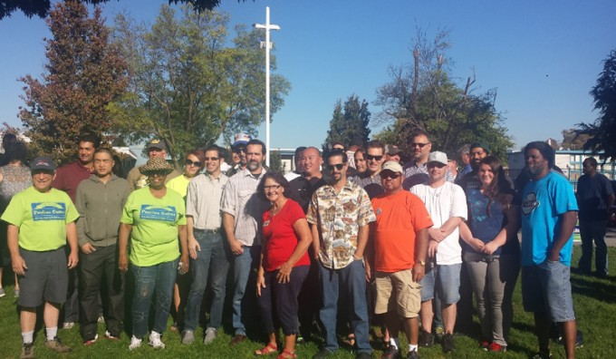 Pounding the pavement for Pauline Cutter in San Leandro on Oct.! Building Trades turned out 25 members on October 4 for the Precinct walk!